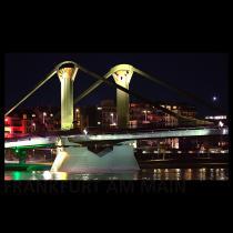 Frankfurt am Main bei Nacht - Skyline Fotografie